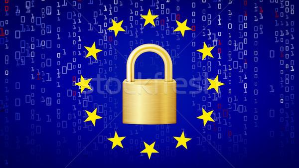 Vector hangslot veiligheid technologie algemeen gegevensbescherming Stockfoto © pikepicture