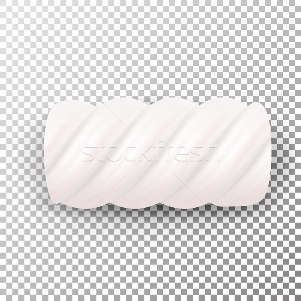 Realistic Marshmallows Candy Vector. Sweet Twist Illustration Isolated On White Background. Chewy Ca Stock photo © pikepicture
