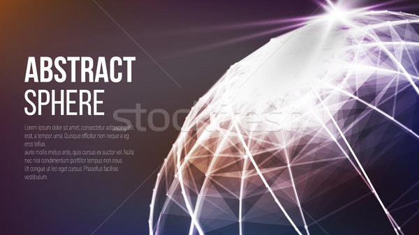 Futuristic Earth Globe. Abstract Technology Futuristic Network. Big Data Complex Vector. Digitally G Stock photo © pikepicture