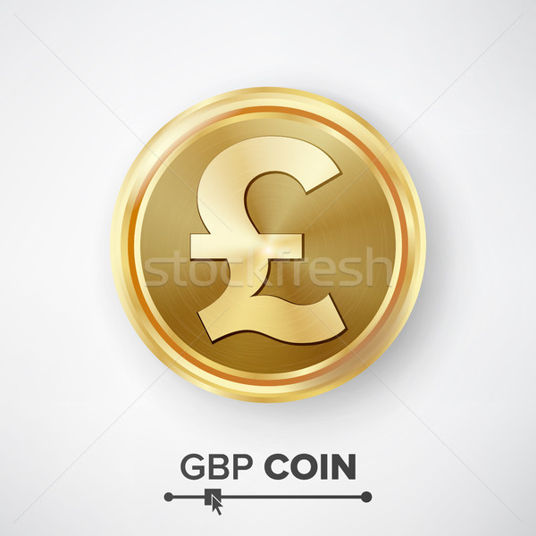 GBP Gold Coin Vector Stock photo © pikepicture