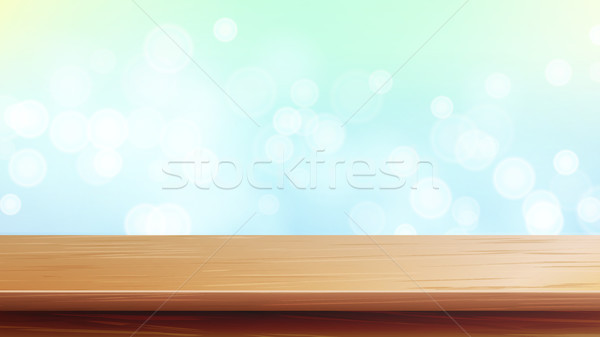Stockfoto: Houten · tafel · top · vector · abstract · ochtend · zonlicht