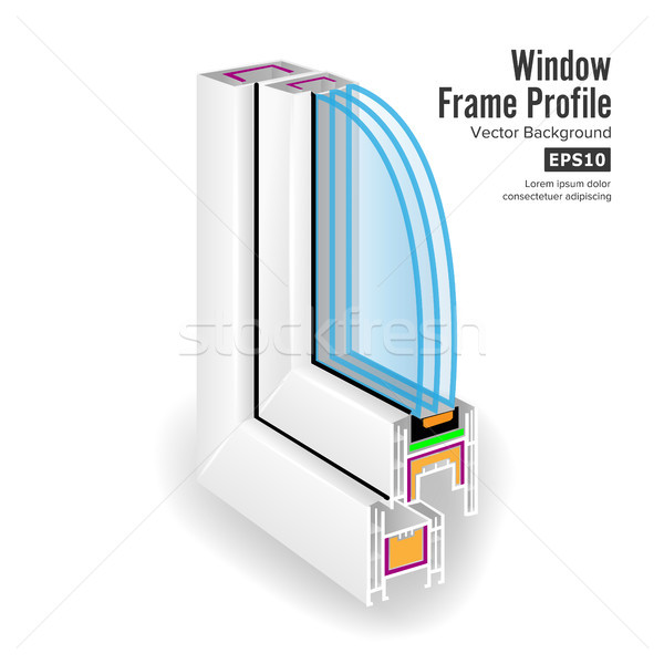 пластиковых профиль структуры углу окна Сток-фото © pikepicture