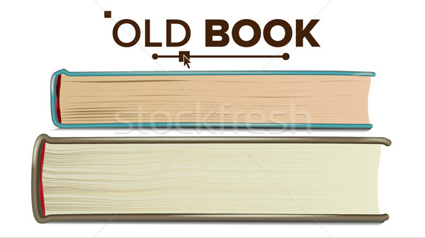 Book In Leather Cover Vector. Retro Object. Isolated Realistic Illustration Stock photo © pikepicture