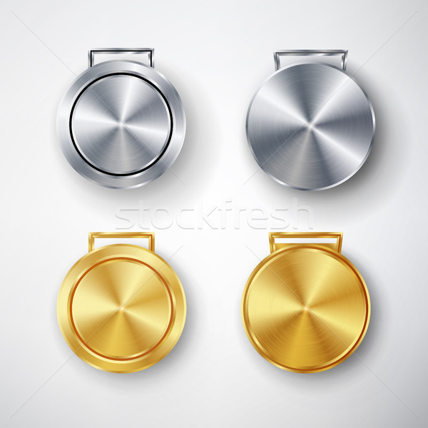 Competition Games Medal Set Template Vector Stock photo © pikepicture