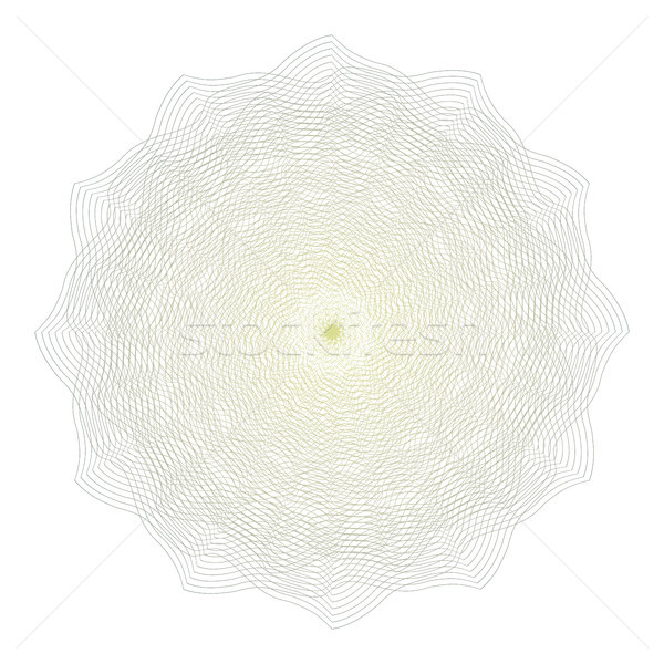 Guilloche Rosette Vector. Decorative Rosette Elements For Diploma Or Passport. Guilloche Background. Stock photo © pikepicture
