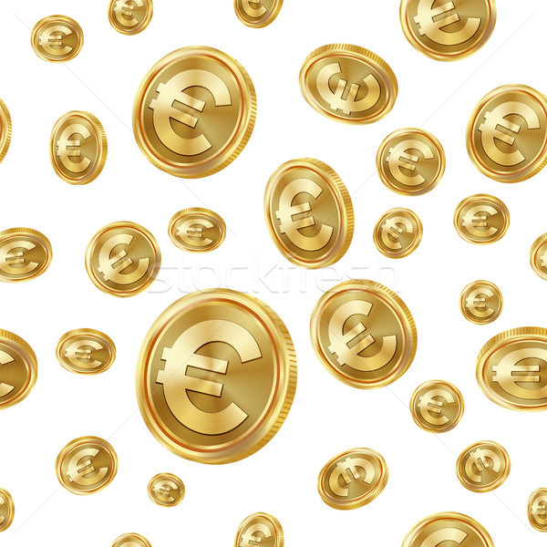 евро вектора Золотые монеты изолированный Сток-фото © pikepicture