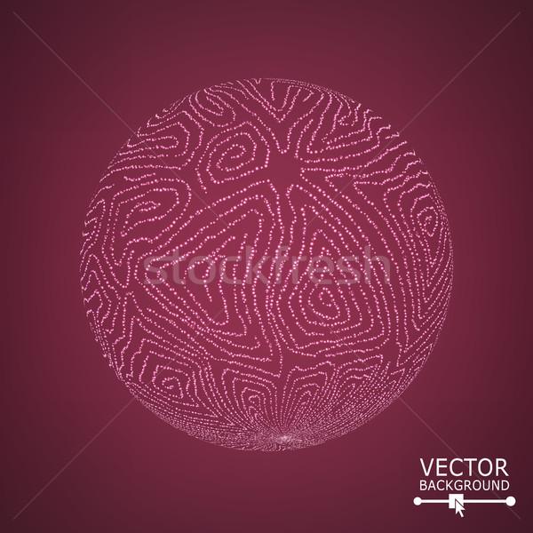 Esfera brilhante vetor comunicação preto Foto stock © pikepicture
