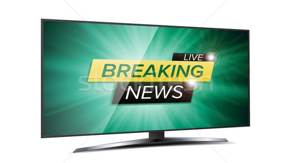 Yaşamak vektör yeşil tv ekran Stok fotoğraf © pikepicture