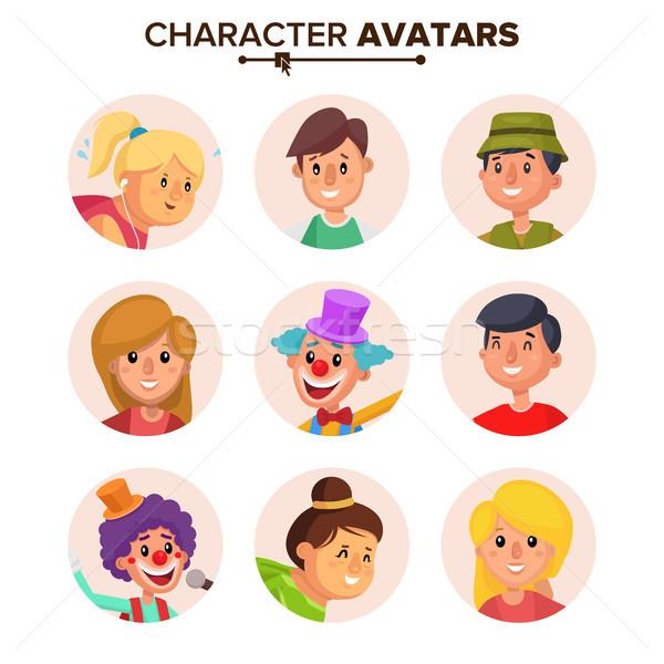 Mensen ingesteld vector kleur cartoon Stockfoto © pikepicture