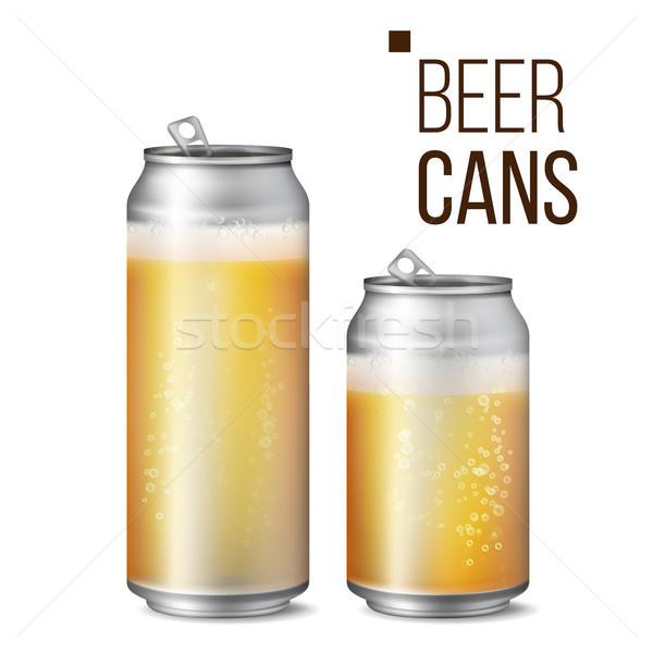 Foto stock: Cerveja · isolado · vetor · luz · brilhante · bolha