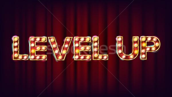 Nível para cima bandeira vetor cassino brilhante Foto stock © pikepicture