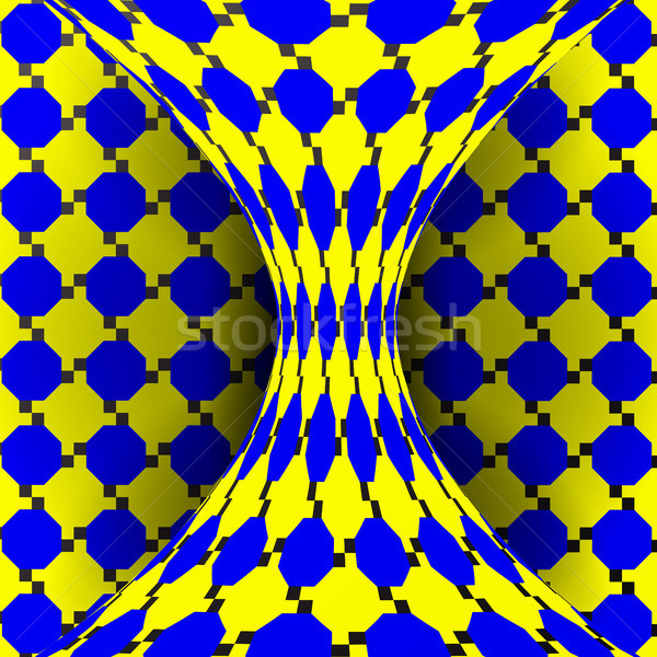 Illusion Vector. Optical 3d Art. Rotation Dynamic Optical Effect. Swirl Illusion. Geometric Magic Ba Stock photo © pikepicture