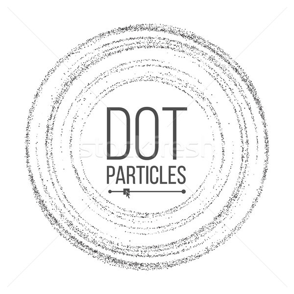 Dotwork Background Vector. Dynamic Energy Particles. Halftone Background. Dotted Stippled Illustrati Stock photo © pikepicture