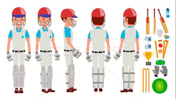 профессиональных крикет игрок вектора шлема Сток-фото © pikepicture
