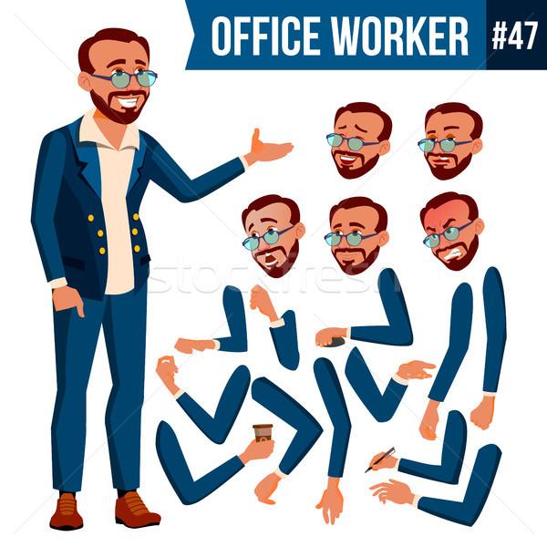Ofis çalışanı vektör türk yüz duygular Stok fotoğraf © pikepicture