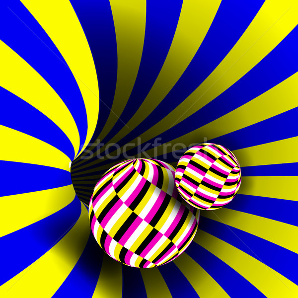 Spiral Vortex Vector. Illusion Vector. Optical Art. Psychedelic Swirl Illusion. Deception, Deceptive Stock photo © pikepicture