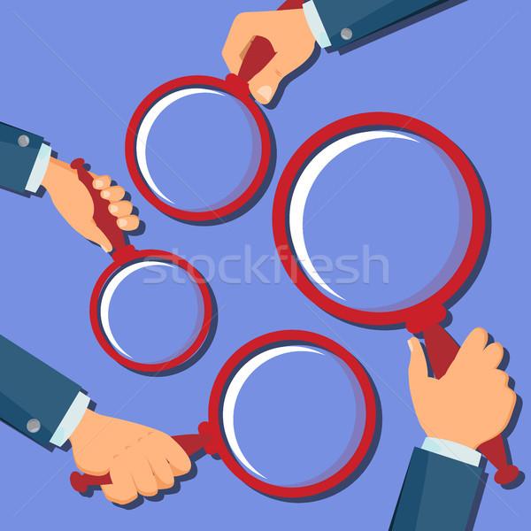 手 虫眼鏡 ベクトル 検索 ズーム ストックフォト © pikepicture