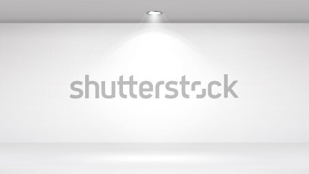Photo Studio Room. Empty White Interior. Gallery, Architectural Design. Vector Illustration. Stock photo © pikepicture