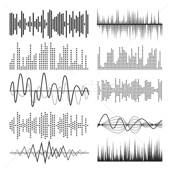 Music Sound Waves Pulse Abstract Vector. Stock photo © pikepicture