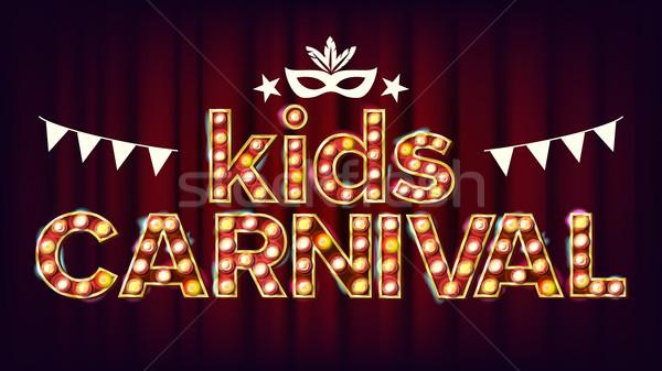 дети карнавальных плакат вектора Сток-фото © pikepicture