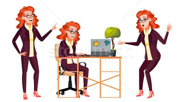 Employé de bureau réussi fonctionnaire serviteur adulte femme d'affaires Photo stock © pikepicture