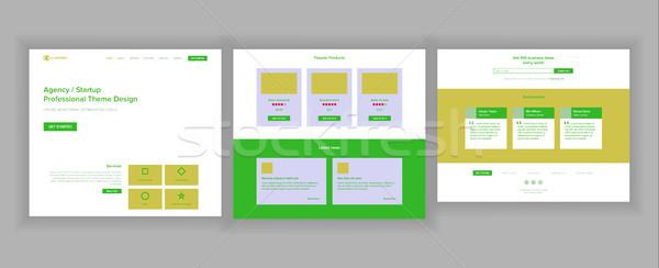 Conception de site web modèle vecteur affaires technologie atterrissage Photo stock © pikepicture