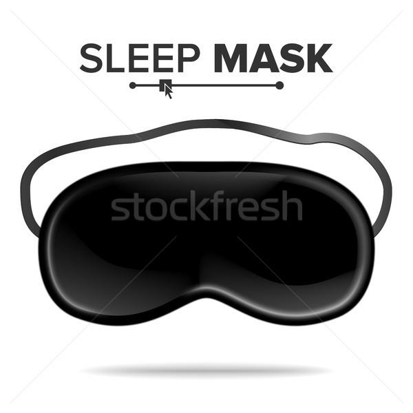 Sleep Mask Vector. Isolated Illustration Of Sleeping Mask Eyes. Help To Sleep Better Stock photo © pikepicture
