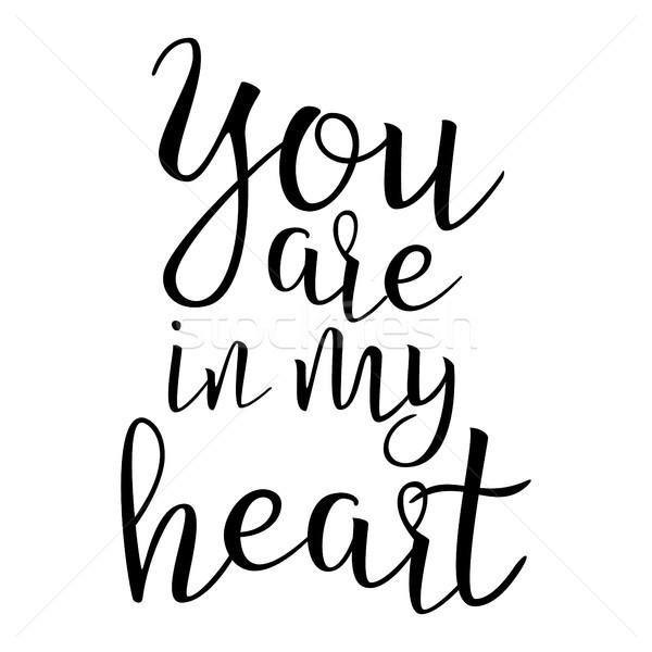 Citar amor meu coração inspirado Foto stock © pikepicture