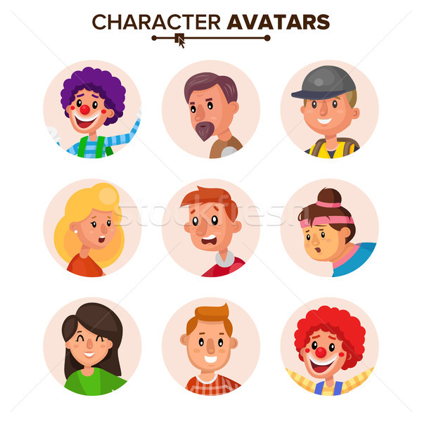 Stock photo: People Characters Avatars Collection Vector. Default Avatar. Cartoon Flat Isolated Illustration