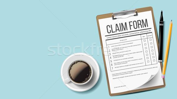 Dochodzić formularza wektora medycznych biuro formalności Zdjęcia stock © pikepicture