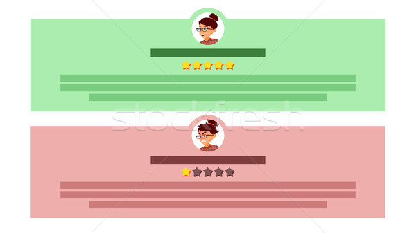 Customer Feedback Vector. User Avatars. Review Rating Speech Bubble. Testimonials Messages. Store Qu Stock photo © pikepicture
