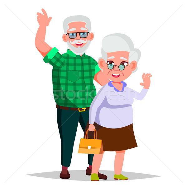 Yaşlı çift vektör dede büyükanne yaşam tarzı Stok fotoğraf © pikepicture