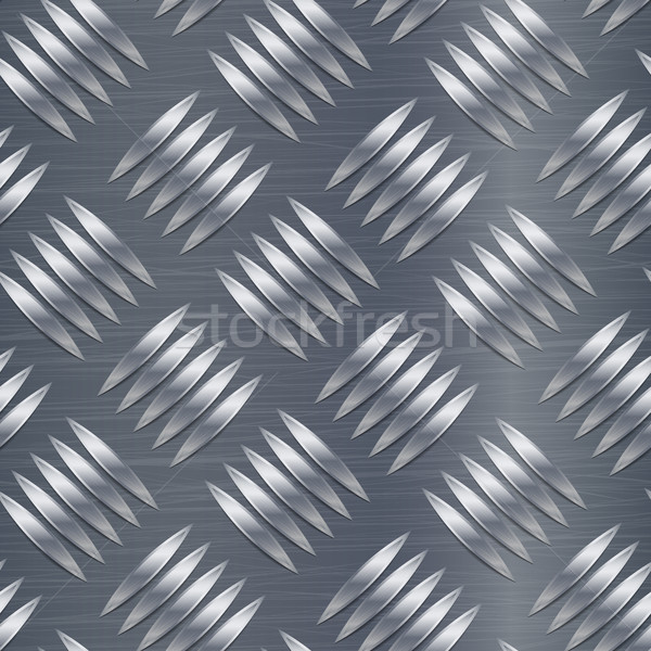 Diamond Metal Plate Seamless Vector Pattern. Corrugated Aluminum Sheet. Metal Seamless Background. V Stock photo © pikepicture