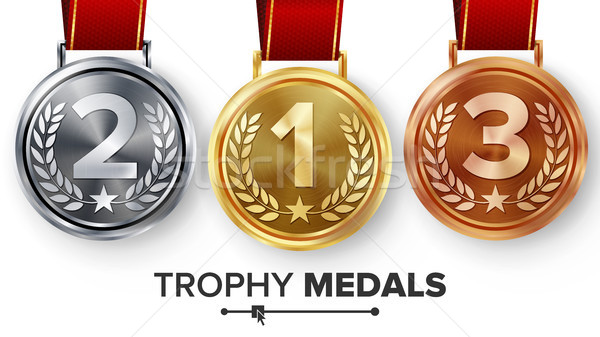 Champion Medals Set Vector. Stock photo © pikepicture