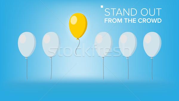Multidão vetor excelente voador balão Foto stock © pikepicture