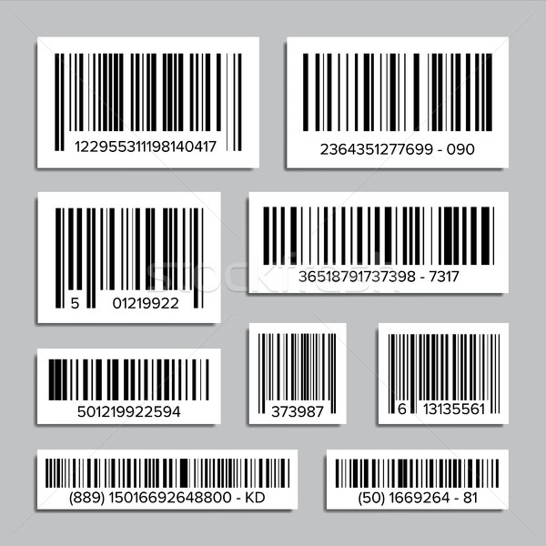 Bar Code Set Vector. Abstract Product Bar Codes Icons For Scanning. UPC Label. Isolated Illustration Stock photo © pikepicture