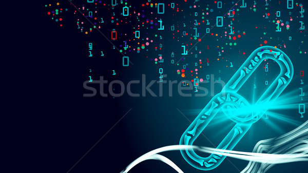 Blockchain Vector. E-commerce Business Management. Blockchain Hyperlink Symbol. Technology Backgroun Stock photo © pikepicture