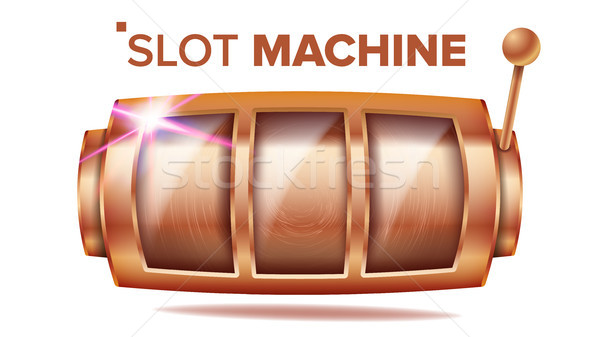 Slot Machine Vector. Bronze Lucky Empty Slot. Bingo Background Design. Spin Machine Template. Fortun Stock photo © pikepicture