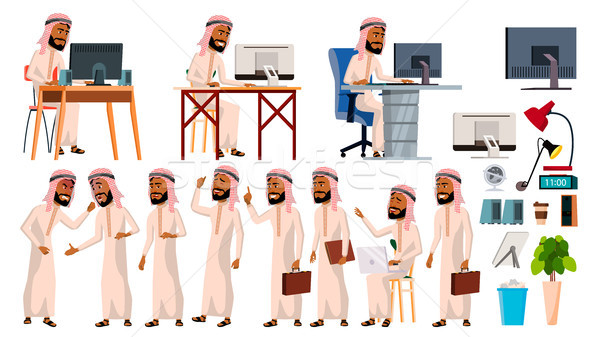 Arab man kantoormedewerker vector moslim business Stockfoto © pikepicture