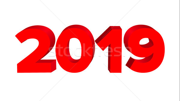 2019 Sign Vector. Numbers 2019. Banner. New Year Background Illustration Stock photo © pikepicture