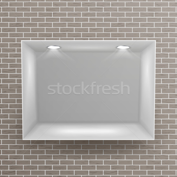 Vide niche vecteur réaliste mur de briques propre Photo stock © pikepicture