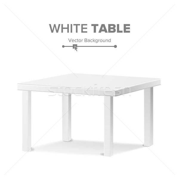 Empty Table Vector. Isolated Furniture, Stand. Clean Stand Template For Object Presentation. Realist Stock photo © pikepicture