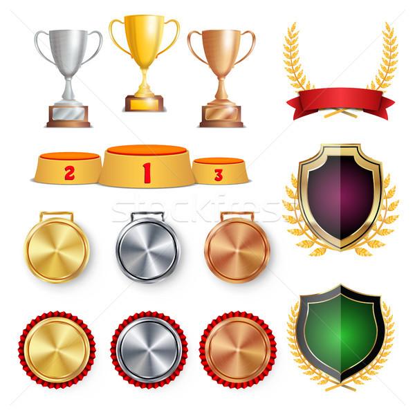 Szertartás nyertes becsület díj trófea díjak Stock fotó © pikepicture