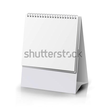 Spirál naptár vektor asztal áll menü Stock fotó © pikepicture