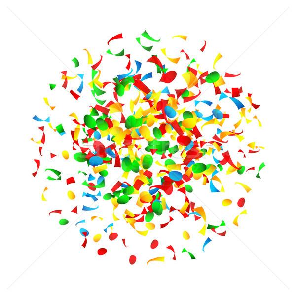 Сток-фото: конфетти · падение · вектора · ярко · взрыв · изолированный