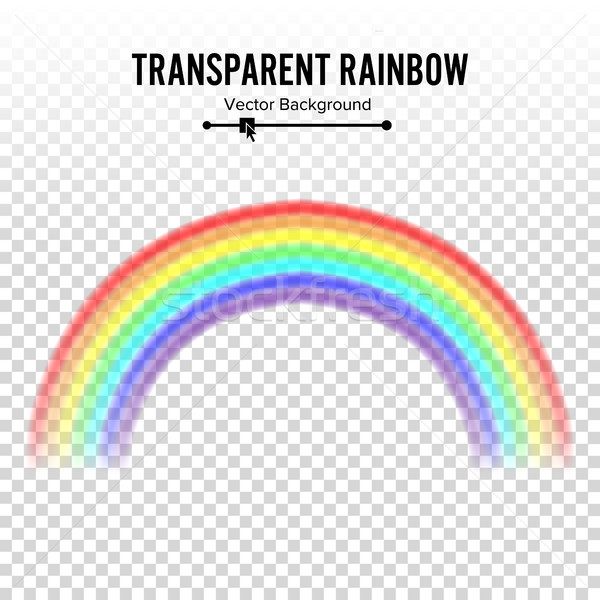 Rainbow Vector. Classic Round Shape. Realistic Rainbow Isolated On Transparent Background. Stock photo © pikepicture