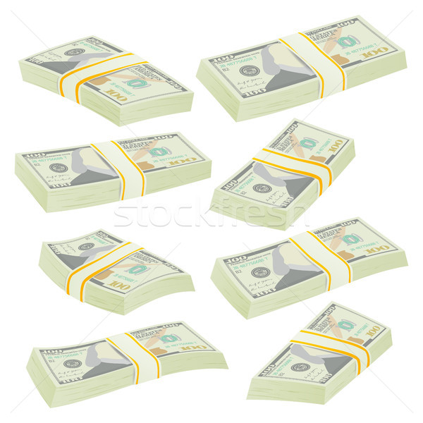 Dollar Stacks Vector. Money Banknotes Stock photo © pikepicture