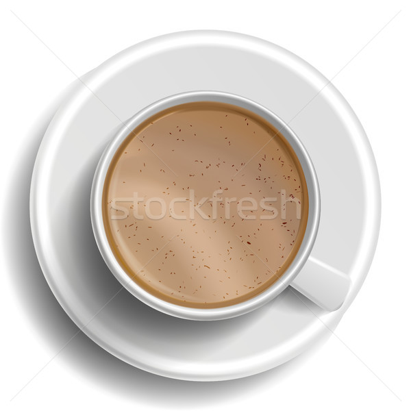 Stockfoto: Koffiekopje · vector · top · hot · koffie