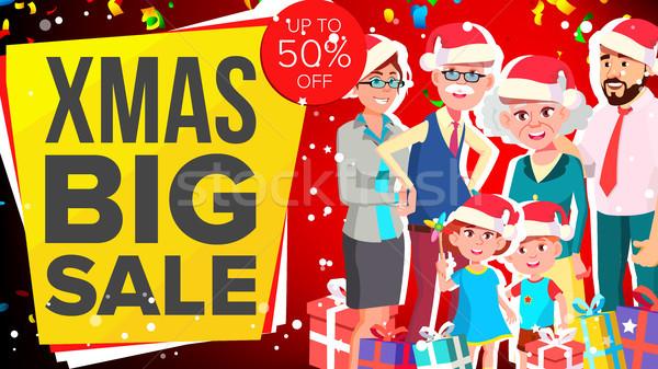 Сток-фото: Рождества · продажи · баннер · вектора · большой · предлагать