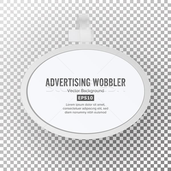Plastic Advertising Wobbler Vector Stock photo © pikepicture